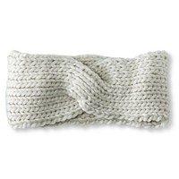 Women's Solid Knit Twisted Outerwear Headband