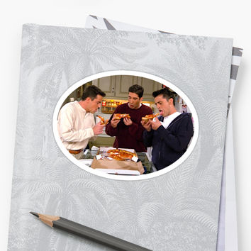 'Ross Chandler Joey Friends Pizza ' Sticker by mariahkasp