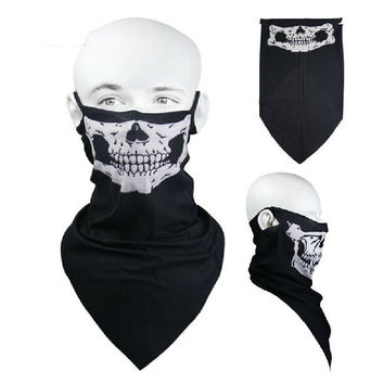 Halloween Mask Skull Skeleton Party Masks Motorcycle Headwear Hat Scarf Neck Sport Face Winter Ski Scary Mask New Year Gift