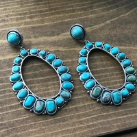 Little Spokane Turquoise Drop Post Earrings