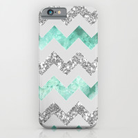 geode & glitter chevron iPhone & iPod Case by Hannah