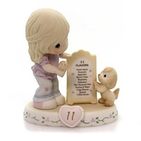 Precious Moments AGE 11 GROWING IN GRACE Porcelain Puppy Blonde 154038