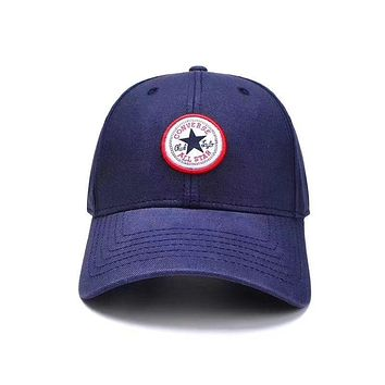 Converse Newest Trending Women Men Stylish Embroidery Sports Sun Hat Baseball Cap Hat Blue