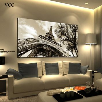 Paintings On The Wall Art Canvas Painting Wall Pictures For Bedroom Quadro Cuadros Decoration Paris City Eiffel Tower Unframed