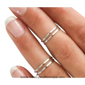 4 Gold/Silver Midi Rings