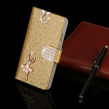For LG L Bello D331 D335 D337 mobile phone case new luxury flip cover with 18 kinds of diamond buckle & free shipping