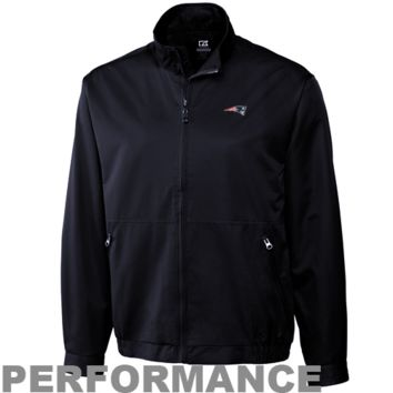 Cutter & Buck New England Patriots Whidbey Full Zip Performance Jacket - Navy Blue