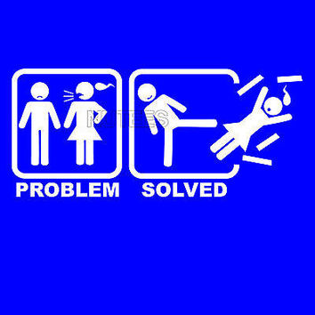 Problem Solved Funny Comic Humorous Men's T-Shirts And Vests S-XXL All Colours