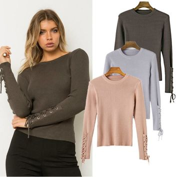 Women's Fashion Sweater Winter Knit Bottoming Shirt [31068422170]