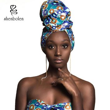 African headtie print headwrap ankara wax fabric 100% pure cotton scarf