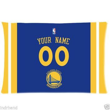 NEW Custom Golden State Warriors BasketBall Pillow Case With Your Name and Numbers