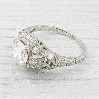 Vintage .90 Carat Diamond Engagement Ring