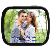 Text Overlay Personalized Photo Mint Tins for Parties, Weddings, Candy Favors and Party Favors!
