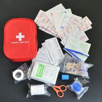 120pcs pack Safe Camping Hiking Car First Aid Kit Medical Emergency Kit Treatment Pack Outdoor Wilderness Survival