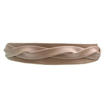 Midi Wrap Belt - Taupe