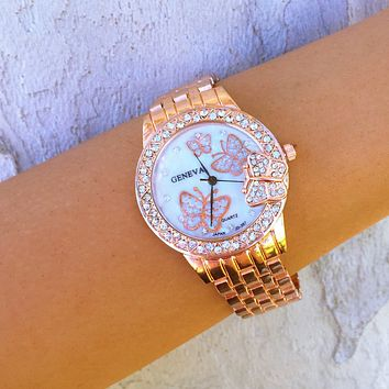 Florentine Rose Butterfly Watch