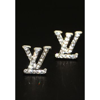 LV Fashion Women Alphabet fashion lady earrings
