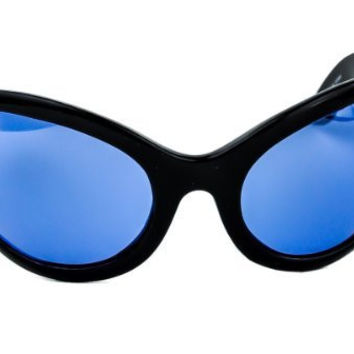 Blue Lens Gothic Vampire Sunglasses Oversized Sexy Glasses