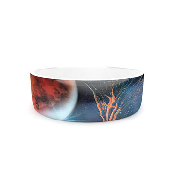 "Infinite Spray Art ""Embark"" Nature Blue Pet Bowl"