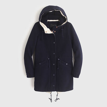 J.Crew Womens Stadium-Cloth Anorak Coat