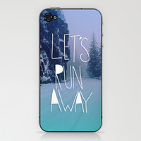 Let's Run Away: Rainier National Forest, Oregon iPhone & iPod Skin | Print Shop