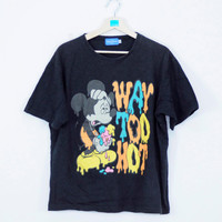 Vintage Mickey Mouse T Shirt Unisex Clothing Cartoon movie Walt Disney International funny animal Mickey Mouse Clubhouse Double Large Size