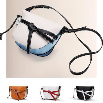 Summer new saddle soft leather handbags