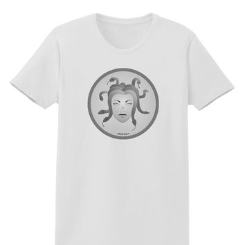 Medusa Head Coin - Greek Mythology Womens T-Shirt by TooLoud