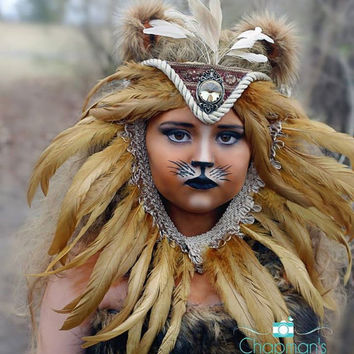 Lion Headpiece, Lion, Headpiece, Theatre, Photography Prop, Photo Prop, Costume, Lion Costume, Halloween Costume