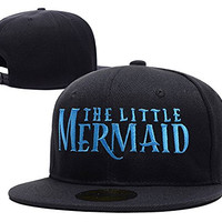 HAIHONG The Little Mermaid A Broadway Logo Adjustable Snapback Caps Embroidery Hats - Black
