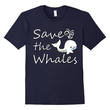Save the Animals Whales Orcas Unicorn Earth tshirt t-shirt t