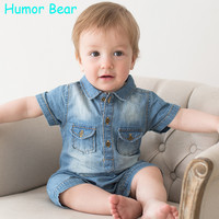 Humor Bear NEW Jumpsuits Baby Boy Clothing Cowboy Rompers Newborn Gentleman Style Casual Clothing Boy Clothes Children Clothing