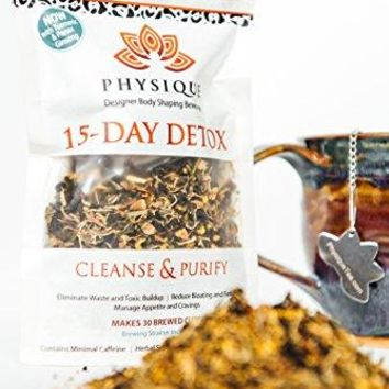 SHIP BY USPS: Physique Tea 15 Day Teatox Herbal Tea Detox Cleanse - Reduces Bloating and Boosts Immune System