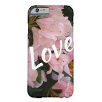Cool white and Pink flower textured background Barely There iPhone 6 Case