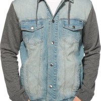 Dravus Sloaner Light Denim Hooded Jacket