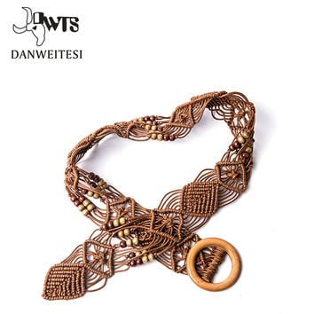 [DWTS] Designer belts woman high quality mens belts girls Braided Belt women Candy Skinny cinturones mujer Hand woven rope belt