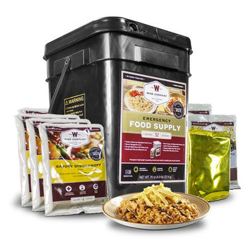 Wise Company Freeze Dried Emergency Food Supply with Drinks (52 Servings)