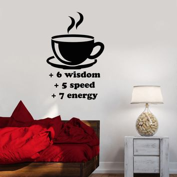 Vinyl Decal Gaming Coffee Cup Video Game Funny Kitchen Wall Stickers Mural Unique Gift (ig2757)