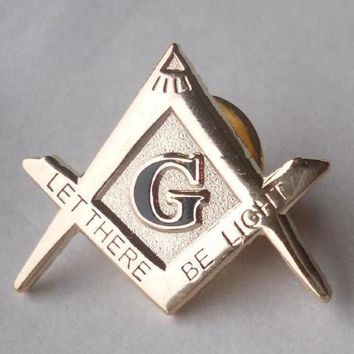 "1"" Masonic Lapel Pin Let there Be Light"
