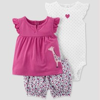 Baby Girls' 3pc Giraffe Set - Just One You® made by carter's Purple