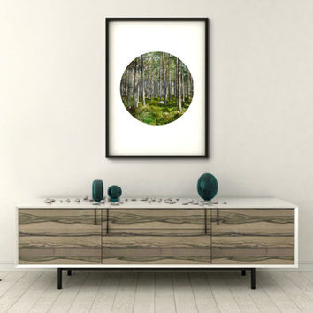 Forest Print, Digital Download, Tree Print,  Forest Poster, Art Print, Printable Wall Art, Instant Download, Tree Poster, Wall Art Printable
