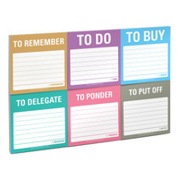 Knock Knock To Accomplish Sticky Notes Set | Free Ship $35