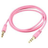 niceeshop(TM) Pink 3.5mm Male to Male Stereo Audio Aux Cable Cord for iPod Computer PC