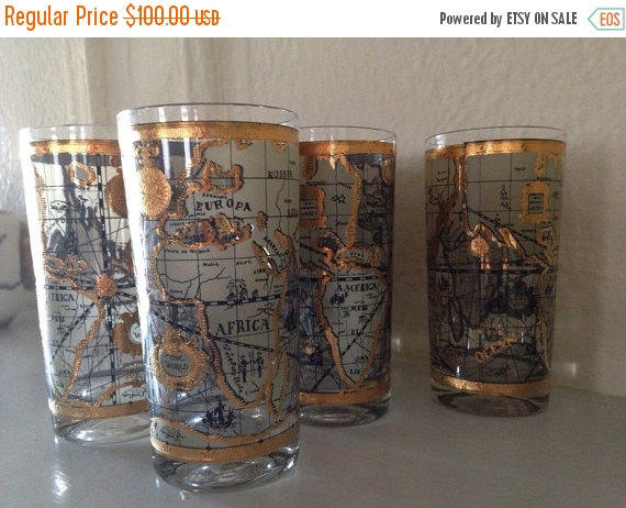 Best highball glass products on wanelo mid century modern tall highball or water glasses gilded gold ol gumiabroncs Gallery