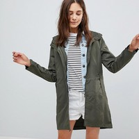 Brave Soul Raver Lightweight Jacket with Neon Zip at asos.com