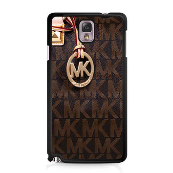 Michael Kors Logo Brown iPhone 5C Samsung Galaxy Note 3 Case