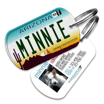 Arizona License Plate Pet Tag