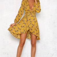 Low Key Love Dress Mustard