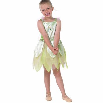 Peter Pan Tinker Bell Cosplay Costume Children Fairy Costume Green Fancy Dress Fantasia Infantil Halloween Costumes for Kids