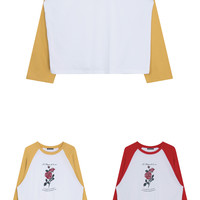 UNTITLE8Graphic Print Raglan T-Shirt | mixxmix